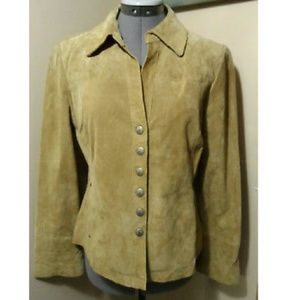 AMI Sueded Leather Jacket M Tan Western style